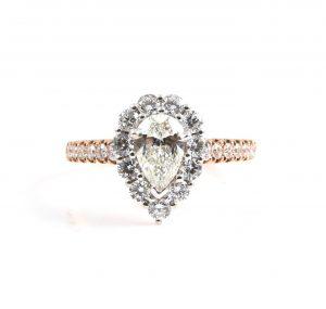 Pear Cut Diamond Engagement Ring | B22696