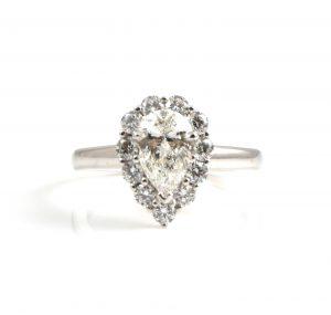 Pear Cut Diamond Halo Ring | B22684