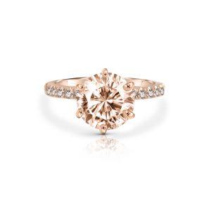 Morganite And Diamond Ring | B22598
