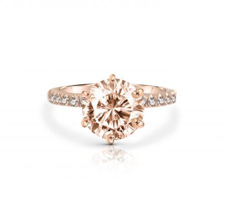 Morganite And Diamond Ring   B22598