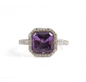 Amethyst And Diamond Dress Ring | B11195