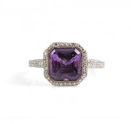 Amethyst And Diamond Dress Ring | B11195