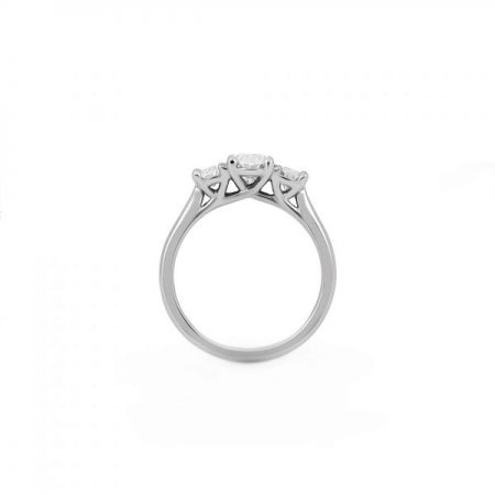 Oval Cut Diamond Trilogy Ring | B22447