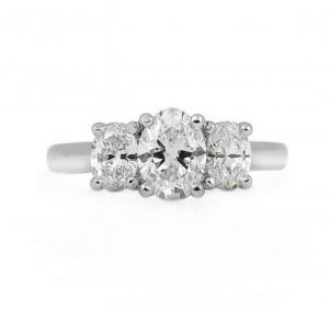 Oval Cut Diamond Trilogy Ring | B22447