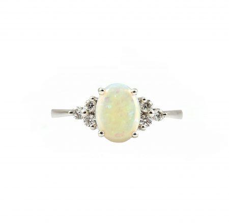 Opal And Diamond Ring   B20920
