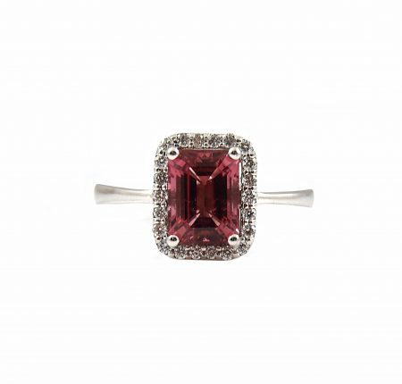 Pink Tourmaline And Diamond Dress Ring | B21200
