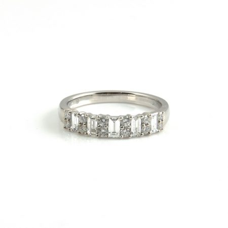 Baguette And Round Diamond Ring | B21973