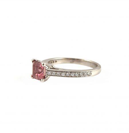 Pink Tourmaline And Diamond Ring | B22632