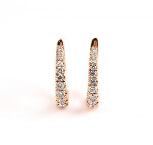 Rose Gold Diamond Hoop Earrings | B22712