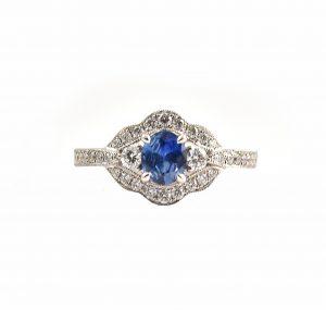 Sapphire And Diamond Deco Ring | B22723