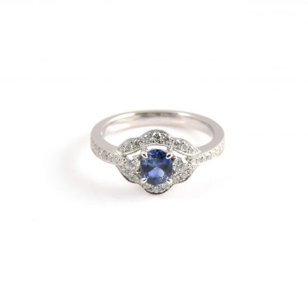 Sapphire And Diamond Deco Ring | B22723