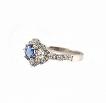 Sapphire And Diamond Deco Ring   B22723