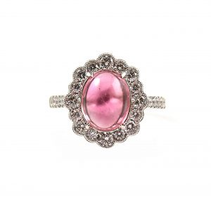Pink Tourmaline and diamond Cocktail ring | B22731