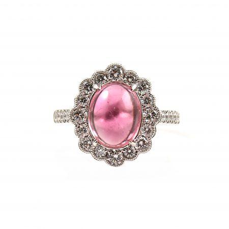 Pink Tourmaline and diamond Cocktail ring | B22731