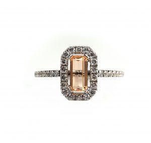 Gold Topaz And Diamond Dress Ring   B22747