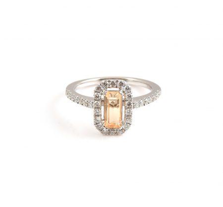 Gold Topaz And Diamond Dress Ring | B22747