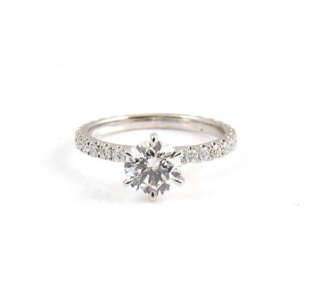 ound Brilliant Cut Diamond Engagement Ring | B22760