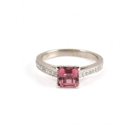 Pink Tourmaline And Diamond Ring | B22632