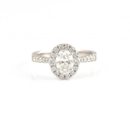 Oval Cut Diamond Engagement Ring | B22761