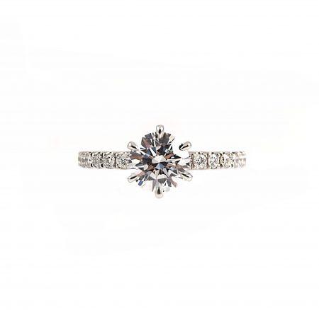 Round Brilliant Cut Diamond Engagement Ring   B22760