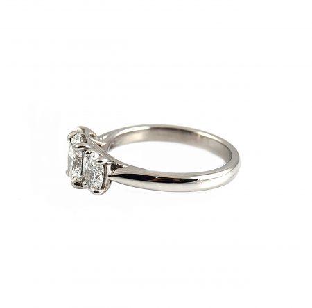 Oval Cut Diamond Trilogy Engagement Ring   B22740