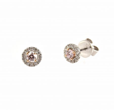 Argyle Pink Diamond Stud Earrings   CBI100647