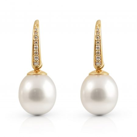 Autore Pearl And Diamond Drop Earrings | B22706