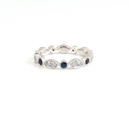 Sapphire and diamond full eternity ring | B22809