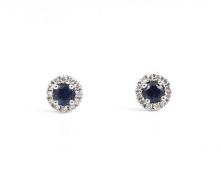 Sapphire and diamond stud earrings | B22813