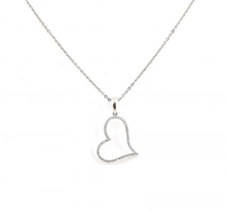 Diamond set heart pendant | B22846