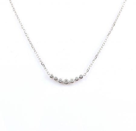 Diamond bezel set necklace | B22848