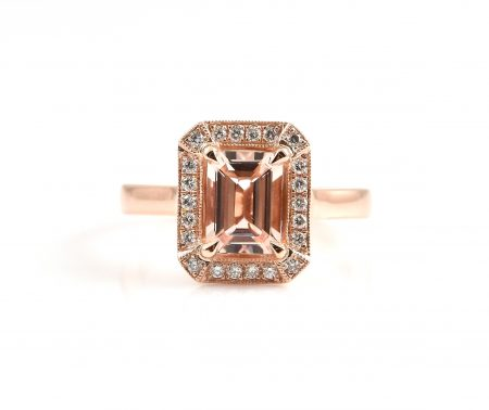 Morganite and diamond dress ring | B22871