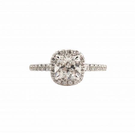 Cushion Cut Diamond Engagement Ring | B23190