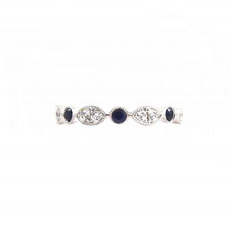 Sapphire And Diamond Full Eternity Ring   B22809