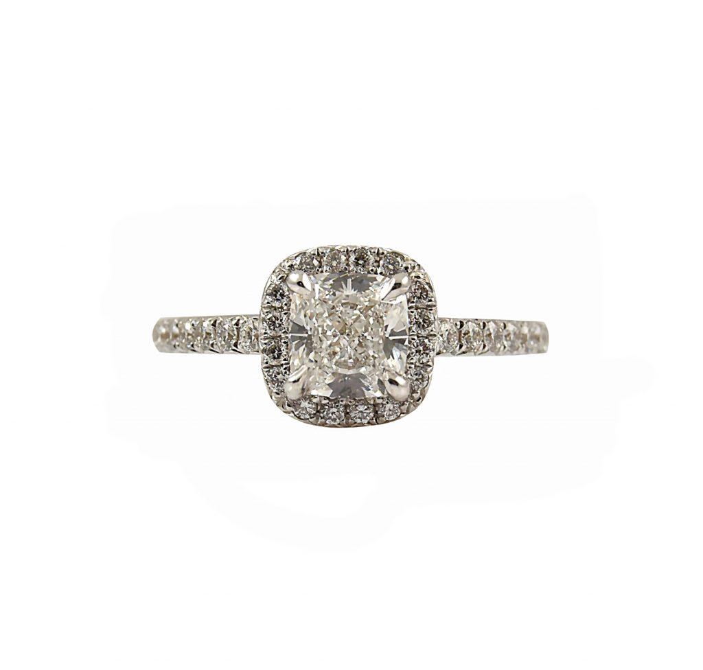 Cushion Cut Diamond Engagement Ring | B23320 • Diamonds