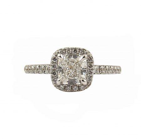 Cushion Cut Diamond Engagement Ring | B23320
