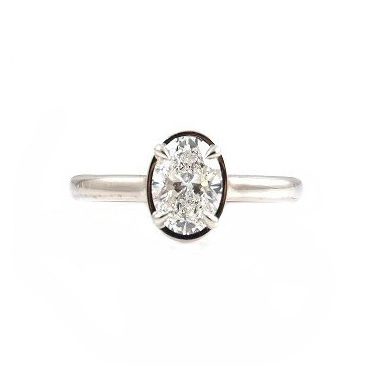 Oval Diamond Set Engagement Ring | B22897