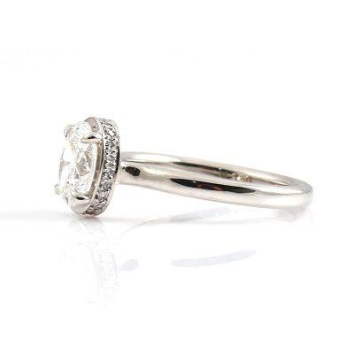 Oval diamond set engagement ring | B22897