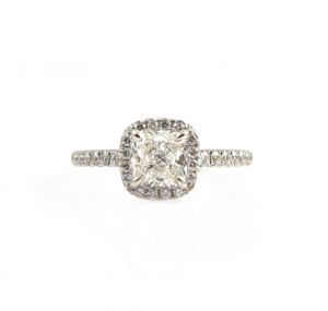 Cushion Cut Diamond Engagement Ring | B22775