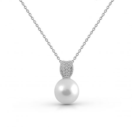 South Sea Pearl And Diamond Bail Pendant | B21204