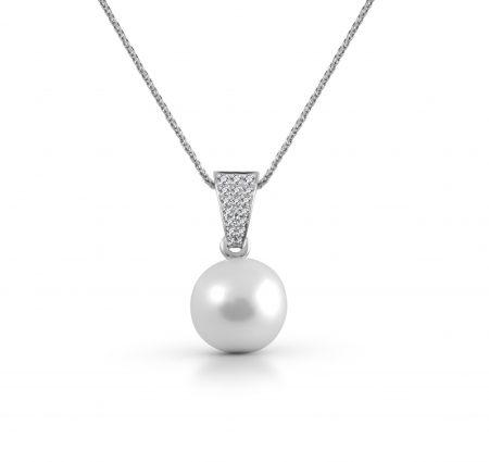 South Sea Pearl Diamond Bail And Pin Pendant | B22839