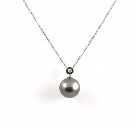 Tahitian South Sea Pearl And Diamond Pendant | B22863