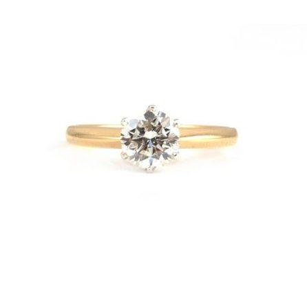 Two Tone Diamond Engagement Ring | B16932