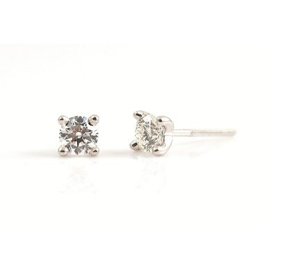 Round Brilliant Cut Diamond Stud Earrings | B21399