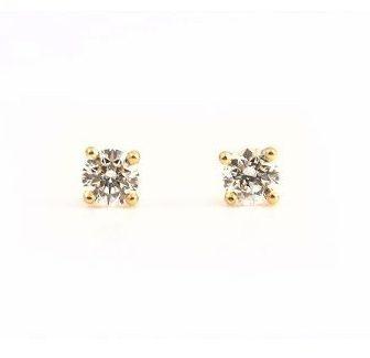 Yellow Gold Diamond Stud Earrings | B22386