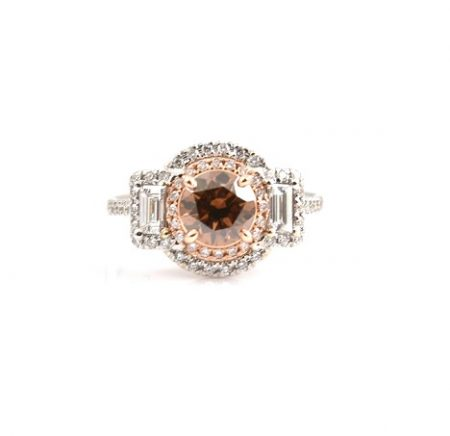 Fancy Dark Brown And Diamond Dress Ring | B22820