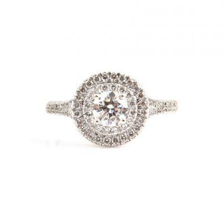 Round Brilliant Cut Double Halo Diamond Engagement Ring | B22834