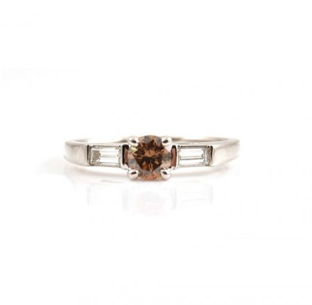 Cognac And Baguette Trilogy Ring | B22907