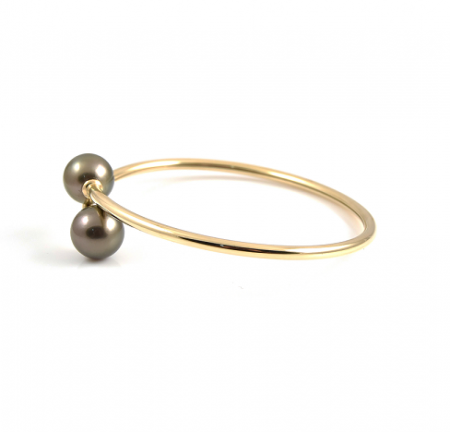Tahitian South Sea Pearl Twist Bangle | B22981
