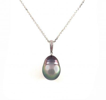 Autore Pink Diamond And Tahitian Pearl Pendant   B23055